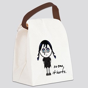 so emo girl Canvas Lunch Bag