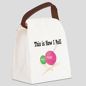 How I Roll Yarn Canvas Lunch Bag