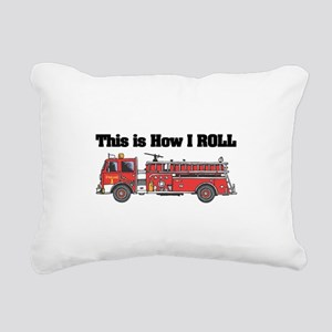 fire truck Rectangular Canvas Pillow