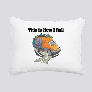 3-garbage truck Rectangular Canvas Pillow