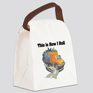 3-garbage truck Canvas Lunch Bag