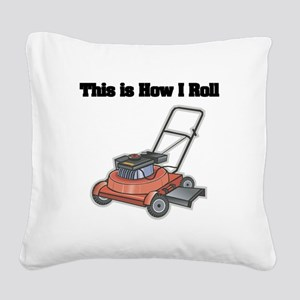 law mower Square Canvas Pillow