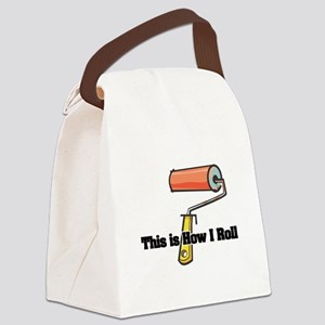 paint roller Canvas Lunch Bag