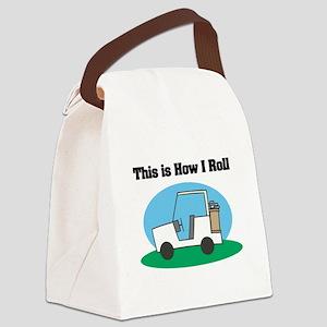 golf cart copy Canvas Lunch Bag