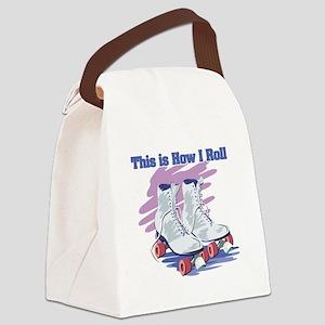roller skates Canvas Lunch Bag
