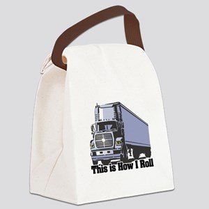 tractor trailer Canvas Lunch Bag
