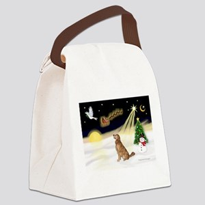 Night Flight/Golden 12 Canvas Lunch Bag