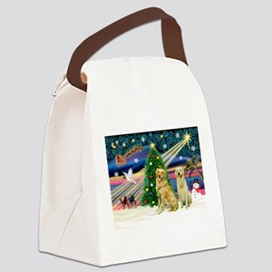 Xmas Magic & Golden pair Canvas Lunch Bag