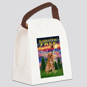 Free / Golden Canvas Lunch Bag
