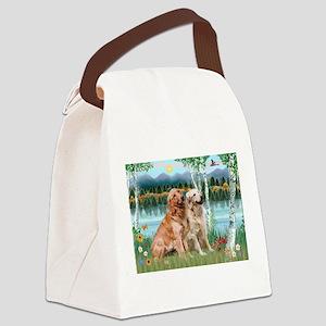 Birches / Golden Canvas Lunch Bag