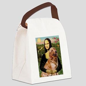 8x10-Mona-Gold-Banj Canvas Lunch Bag
