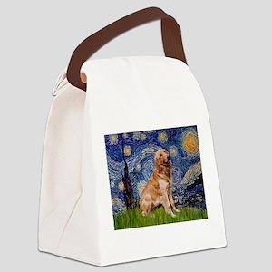 Starry / Golden (B) Canvas Lunch Bag