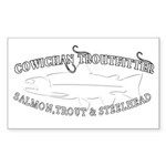 white cowichan troutfitt Sticker (Rectangle 50 pk)