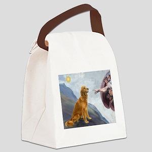 Creation (#2) & Golden Canvas Lunch Bag