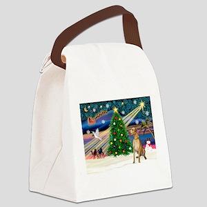 Xmas Magic & Gr Dane Canvas Lunch Bag