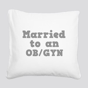 OBGYN Square Canvas Pillow