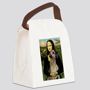 Mona's Fawn Great Dane Canvas Lunch Bag