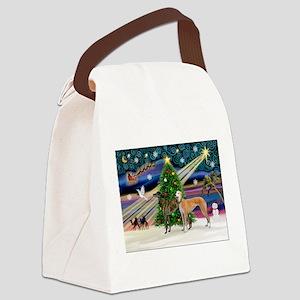 XmasMagic/2Greyhounds Canvas Lunch Bag