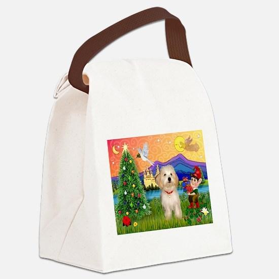 XmasFantasy / Havanese Canvas Lunch Bag