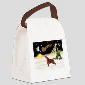 Night Flight/Irish Setter Canvas Lunch Bag