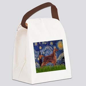 Starry Night Irish Setter Canvas Lunch Bag