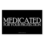medicated.rect.sticker Sticker (Rectangle 50 pk)