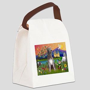 Irish Elf & Irish Wolfhound Canvas Lunch Bag