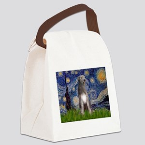 Starry/Irish Wolfhound Canvas Lunch Bag
