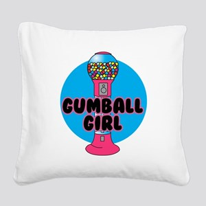 gumnall girl Square Canvas Pillow