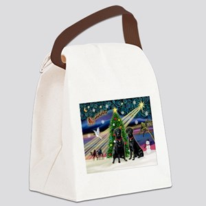Xmas Magic & Lab PR Canvas Lunch Bag