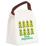 depression ducks.png Canvas Lunch Bag