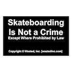skateboarding Sticker (Rectangle 50 pk)