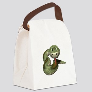 green snake copy Canvas Lunch Bag