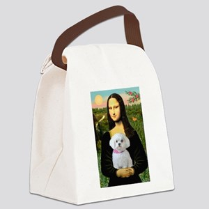 Mona's Maltese (R) Canvas Lunch Bag
