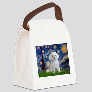 Starry / Maltese Canvas Lunch Bag
