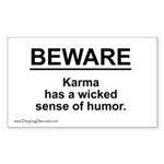 Wicked Sense of Humor... Sticker (Rectangle 50 pk)
