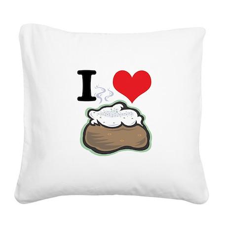 baked potato.jpg Square Canvas Pillow