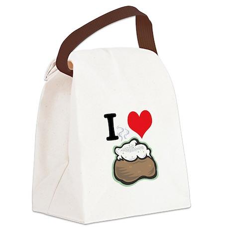 baked potato.jpg Canvas Lunch Bag