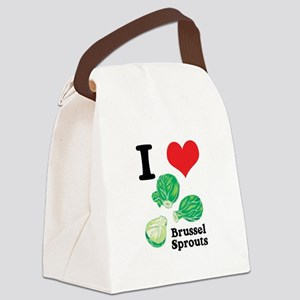 3-brussel sprouts Canvas Lunch Bag