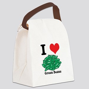 green beans Canvas Lunch Bag