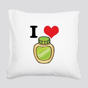 mayonaise Square Canvas Pillow