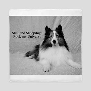 Shetland Sheepdogs Rock my Universe Queen Duvet