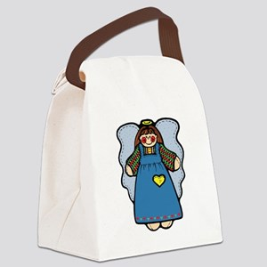 blue country angel Canvas Lunch Bag