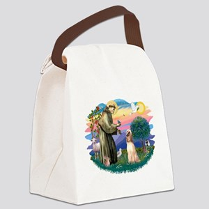 St.Francis #2/ Afghan Hound Canvas Lunch Bag