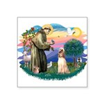 St.Francis #2/ Afghan Hound Square Sticker 3""