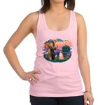 St.Francis #2/ Afghan Hound Racerback Tank Top