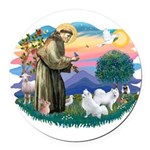 St.Francis #2/ Am Eskimo (2) Round Car Magnet