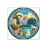 "St Francis/Am Eskimo #3 Square Sticker 3"" x 3"