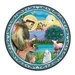 St Francis/Am Eskimo #3 Round Car Magnet