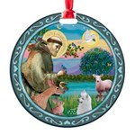 St Francis/Am Eskimo #3 Round Ornament